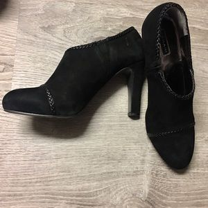 Tahari Shoes - Tahari Black Suede Ankle Booties Size 8.5